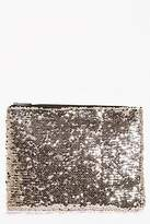 boohoo Womens Ivy All Over Sequin Clutch Bag