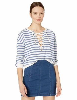 BB Dakota Women's on Deck Stripe French Terry Sweatshirt