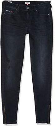 Tommy Jeans Women's Mid Rise Skinny Nora 7/8 Zip CPT Straight Jeans