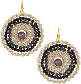 Nakamol Crystal & Pearl Circle Earrings, Brown Mix