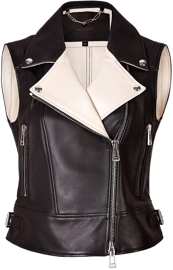 Belstaff Leather Hawke Perfecto Vest