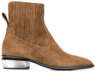 Kate Cate Cowboy suede ankle boots