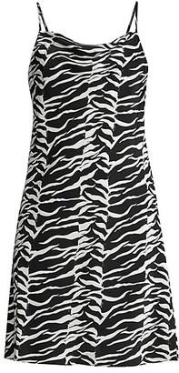 Rixo Twiggy Tiger Print Silk Tank Dress
