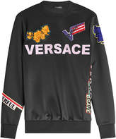Versace Satin Sweatshirt with Patches