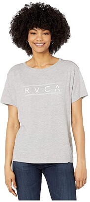 RVCA Ave Short Sleeve (Heather Grey) Women's Clothing