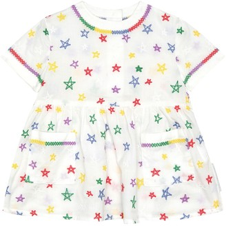 Stella McCartney Baby embroidered cotton dress and bloomers set