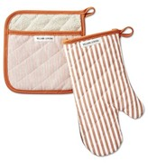 Williams-Sonoma Williams Sonoma Bay Stripe Oven Mitt & Potholder Set, Pumpkin Orange