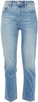 Thumbnail for your product : Current/Elliott The Original Cigarette Faded High-rise Slim-leg Jeans