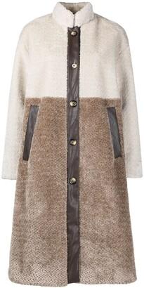 Baum und Pferdgarten Daffy two-tone oversized coat