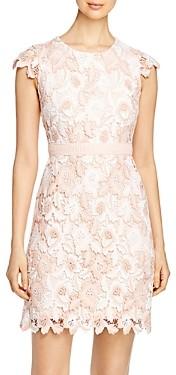 Karl Lagerfeld Paris Cap-Sleeve Lace Dress