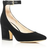 Marc Fisher Anisy Velvet Ankle Strap Pumps