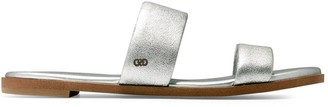 Cole Haan Findra Metallic Leather Double-Strap Flat Sandals