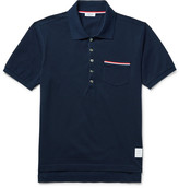 Thom Browne - Mercerised Cotton-piqué Polo Shirt