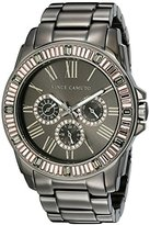 Vince Camuto Women's VC/5159PKGY Swarovski Crystal Accented Multi-Function Dial Grey Bracelet Watch