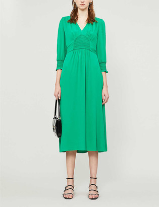 Whistles Zenna shirred waist crepe dress