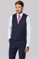 Ted Baker Tailored Fit Navy & Blue Check Waistcoat