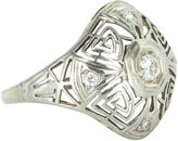One Kings Lane Vintage Belais Diamond Geometric Ring