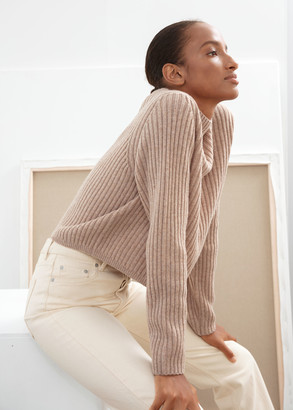 And other stories Ribbed Wool Relaxed Turtleneck