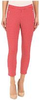 Hue Checkered Knit Capris