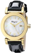 Salvatore Ferragamo Women's FP1800014 Diamond-Accented Gold Ion-Plated Stainless Steel Watch