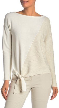 Lafayette 148 New York Tie Front Pullover