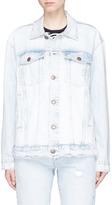 Current/Elliott 'The Boyfriend Trucker' distressed denim jacket