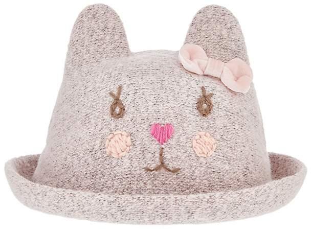 Monsoon - Baby Girls' Pink Christie Cat Bowler Hat