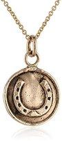 Pyrrha 14k Gold Horseshoe Talisman Necklace