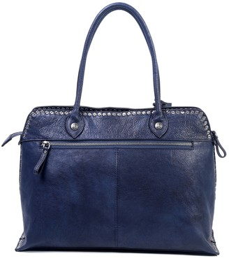 Old Trend Soul Stud Leather Satchel Bag