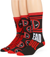 Marvel Deadpool 3-pk. Crew Socks