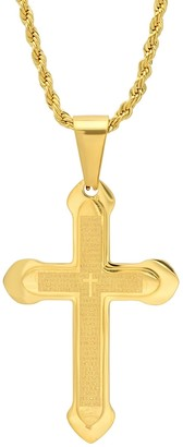 Steel by Design Men's Cross Pendant w/ Chain