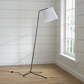 Crate & Barrel Angle Pewter Floor Lamp