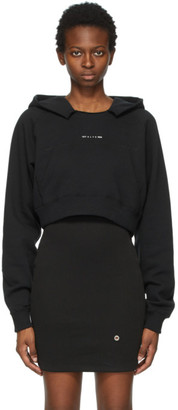 Alyx Black Crop Visual Hoodie