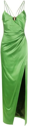 David Koma Ruffled Slip Dress