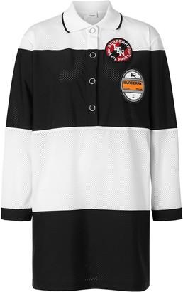 Burberry striped logo polo shirt dress