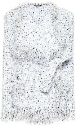 Balmain Belted tweed cardigan