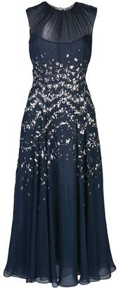 Oscar de la Renta beaded chiffon A-line dress