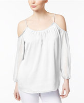 Kensie Crinkled Off-The-Shoulder Top