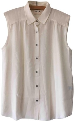 MiH Jeans White Silk Top for Women