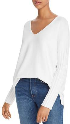 French Connection Vhari Ribbed-Sleeve Sweater