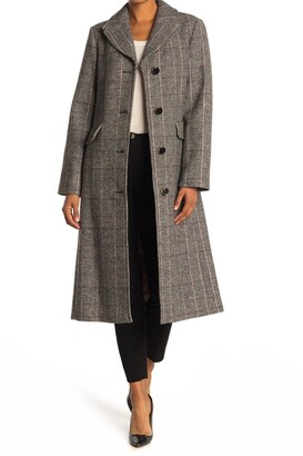Kate Spade Plaid Belted A-Line Coat