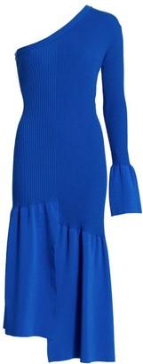 3.1 Phillip Lim Asymmetrical One-Sleeve Cutout Dress