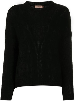 Twin-Set Cable Knit Jumper