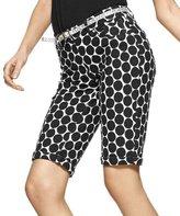 Hue Dot Print Pique Boyfriend Shorts (M)