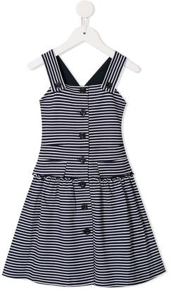 Emporio Armani Kids Striped Flared Dress