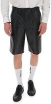 Prada Leather Shorts