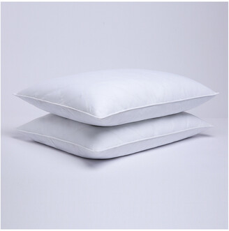 Puredown Puredown Set Of 2 Quilted Feather & Down Pillows With Cover