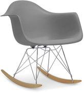 Caden Mid-Century Modern Rocking Chair, Quick Ship