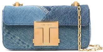 Tom Ford Medium 001 Denim-Patchwork Shoulder Bag