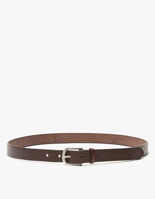 Maximum Henry Men's Slim Standard Belt in Dark Brown/Silver, Size Small   Leather